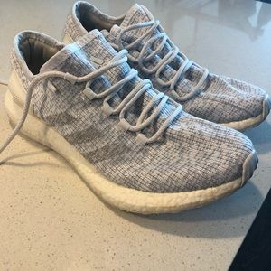 Adidas Gray and White Mens Sneakers